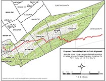 Penns Valley Rails-To-Trails Map